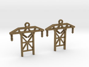 Power Tower Earrings in Natural Bronze
