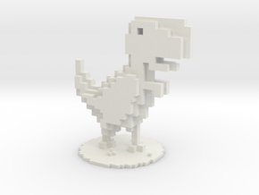 Voxel Dino T-Rex Chrome in White Natural Versatile Plastic