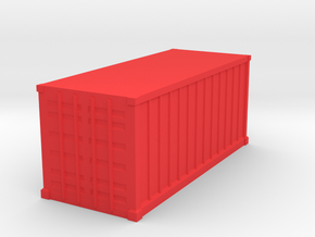 Shipping Container, Standard 20 foot (Hollow) in Red Processed Versatile Plastic: 1:64 - S