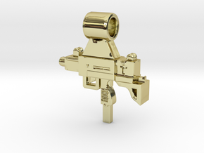 Uzi Pendant in 18k Gold Plated Brass: Small