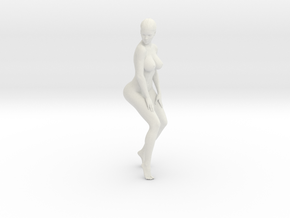 Long Ponytail Girl-011 in White Strong & Flexible