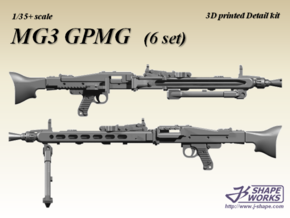 1/35+ MG3 GPMG (6 set) in Smoothest Fine Detail Plastic: 1:35