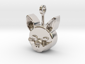 Classic Cat Pendant in Platinum: Small