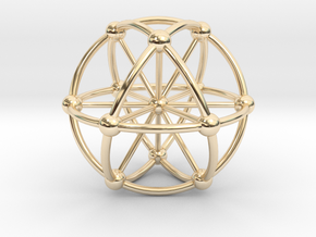 Genesa Crystal with twelve rays in 14K Yellow Gold