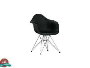 Miniature Eames DAR Chair - Charles & Ray Eames in White Strong & Flexible