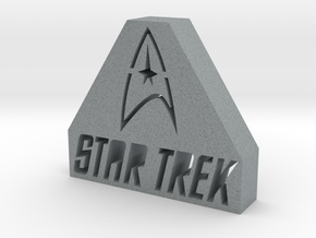 Star Trek Logo in Polished Metallic Plastic