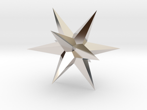 Star - Stellated Dodecahedron in Platinum: Small