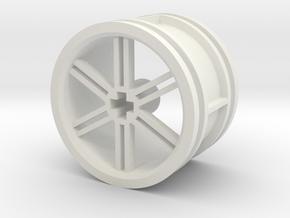 12-spoke rim 30mmØ model2 in White Natural Versatile Plastic
