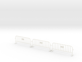 3x PACK 1:50 Small construction fence in White Processed Versatile Plastic