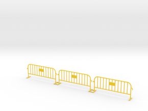 3x PACK 1:50 Small construction fence in Yellow Processed Versatile Plastic