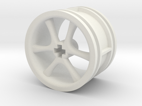 6-spoke rims 30mmØ model1 in White Natural Versatile Plastic
