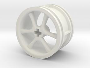 6-spoke rims 30mmØ model1 in White Natural Versatile Plastic