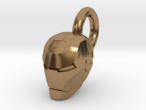 Ironman Helmet Charm in Natural Brass