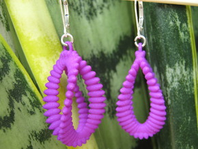 Ellipsoids on Clelie Earrings in Purple Processed Versatile Plastic