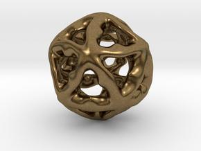 Math Art - Alien Ball Pendant in Natural Bronze