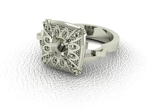 Vintage classic 2 NO STONES SUPPLIED in 14k White Gold