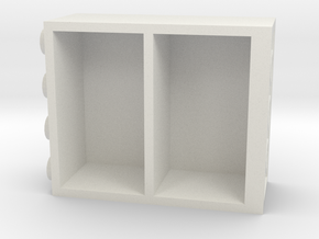 Building Block Book Case in White Natural Versatile Plastic