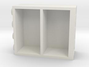 Building Block Book Case in White Natural Versatile Plastic