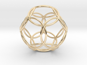 """Dodecasphere 1.1"""" in 14K Yellow Gold"""