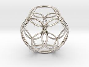 "Dodecasphere 1.1"" in Rhodium Plated Brass"