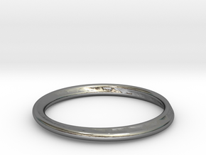 Ring Mobius facet in Polished Silver: 7.25 / 54.625