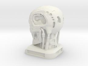 Small Desktop Decoration - T800 Skull in White Natural Versatile Plastic