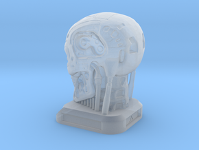 Small Desktop Decoration - T800 Skull in Frosted Ultra Detail