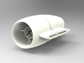 25mm EDF Nacelle with side mount in White Strong & Flexible