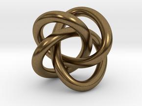 Math Art - (4,3) Torus Knot  Pendant in Natural Bronze