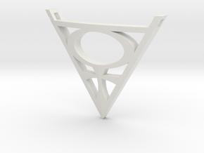 Goddesses: Origin of Venus pendant in White Natural Versatile Plastic