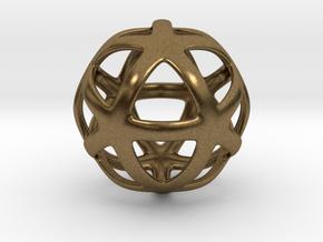 Math Art - Star Ball Pendant in Natural Bronze