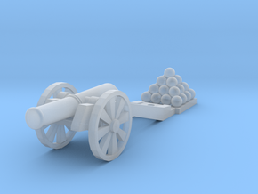 Cannon (Heavy) - N 160:1 scale in Frosted Ultra Detail
