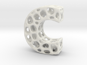 Voronoi Letter ( alphabet ) C in White Strong & Flexible