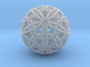 IcosaDodecasphere w/ Icosahedron and Star Dodeca in Smooth Fine Detail Plastic