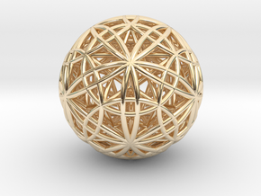 IcosaDodecasphere w/ Icosahedron and Star Dodeca in 14K Yellow Gold