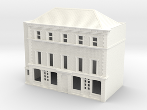N Scale Rye High Street building 1:148 in White Processed Versatile Plastic