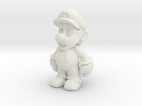 Nintendo Mario  in White Natural Versatile Plastic: Extra Small