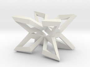 CC Table Structure Sharp in White Natural Versatile Plastic