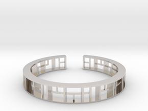 WINDOW Bracelet Medium Size D=60mm in Platinum: Medium