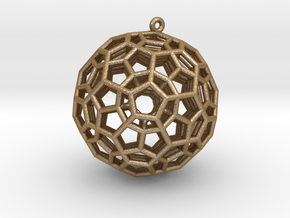 4-Dimensional Dodecahedron pendant in Matte Gold Steel