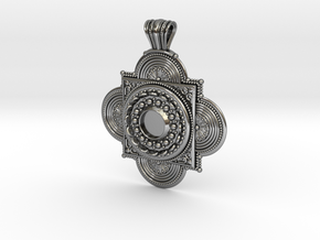 Pendant Solaris in Polished Silver