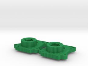 Gate Valve Body in Green Processed Versatile Plastic