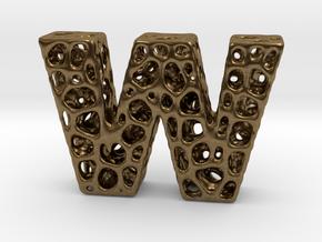 Voronoi Letter ( alphabet ) W in Natural Bronze
