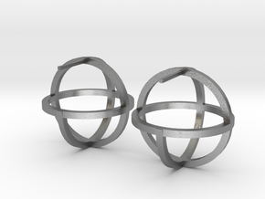 Circles Earring in Natural Silver