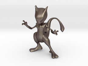 Mewtwo in Polished Bronzed Silver Steel