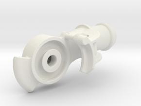 "Air Brake Gladhand - 2.5"" scale - REV, LIVE STEAM in White Natural Versatile Plastic"