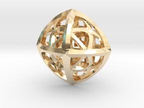 Octaplex Pendant in 14k Gold Plated Brass