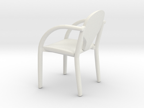 Chair 01. 1:24 scale in White Natural Versatile Plastic