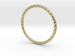 Twist Bracelet 75 in 18k Gold Plated Brass