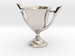 Trophy Cup in Rhodium Plated Brass